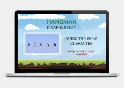 Hangman Pixar Edition